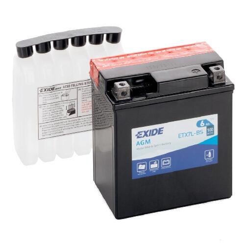 Аккумулятор Exide ETX7L-BS, 12N7-3A/3B