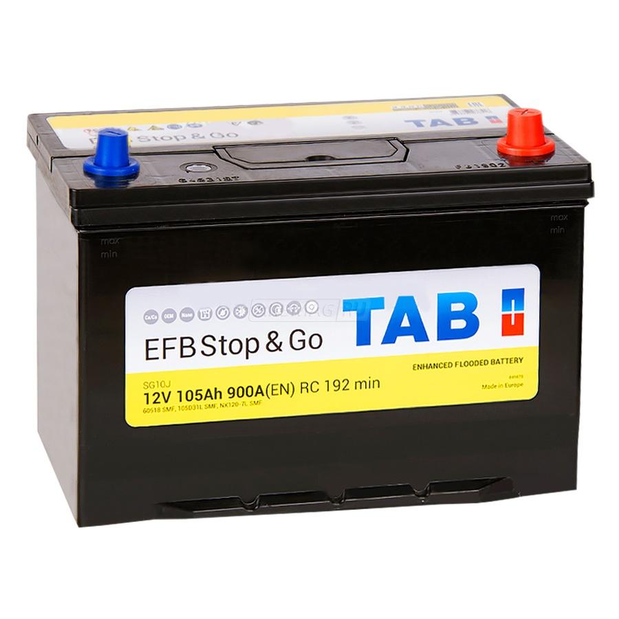 Аккумулятор TAB Polar S EFB 105 R+ 60518
