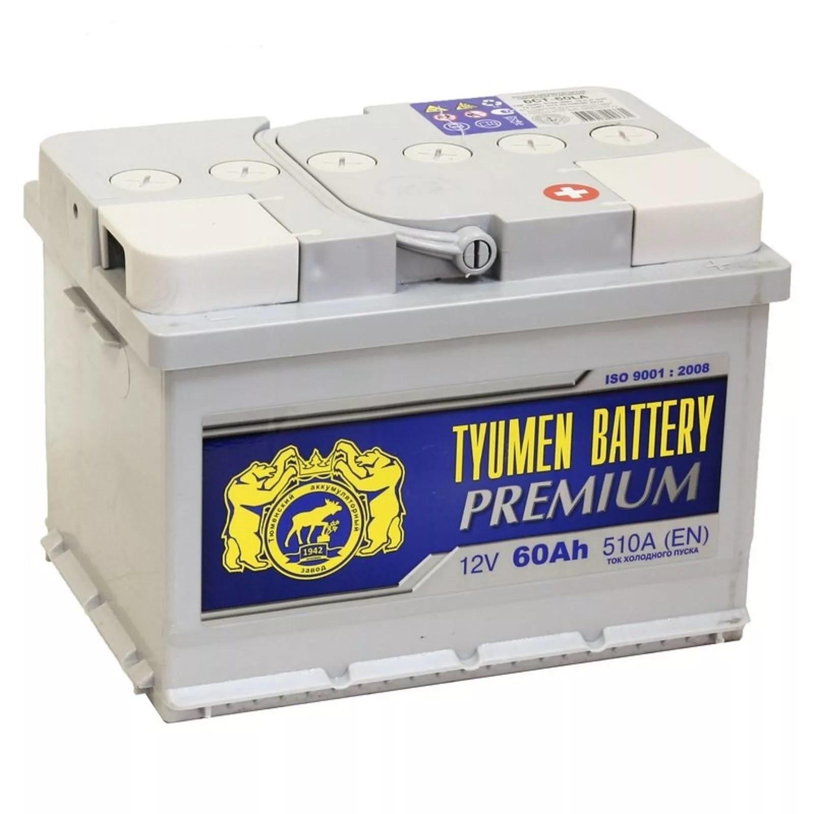 Аккумулятор Тюмень Premium 6СТ-60 L+