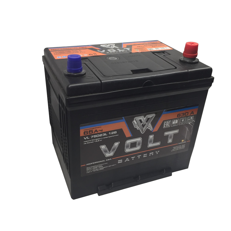 Аккумулятор VOLT PROFESSIONAL 75D23L