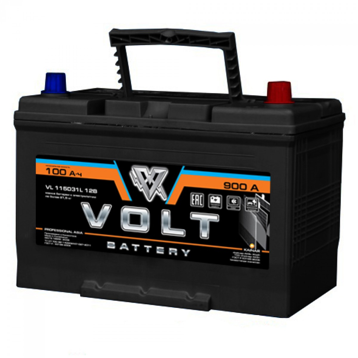 Аккумулятор VOLT PROFESSIONAL 115D31L