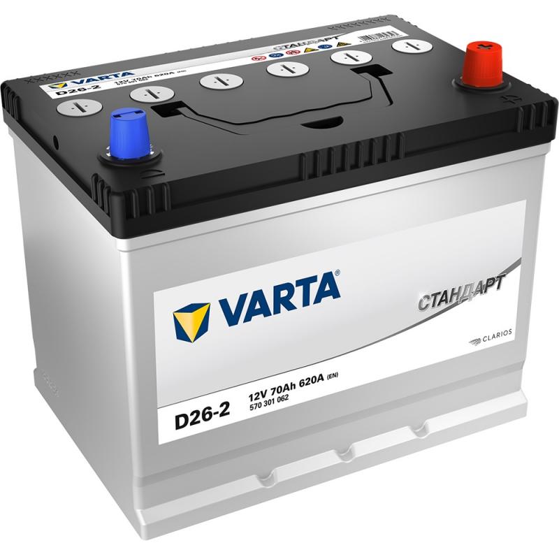 Аккумулятор VARTA Standart 6СТ 70 JIS D26-2 376613