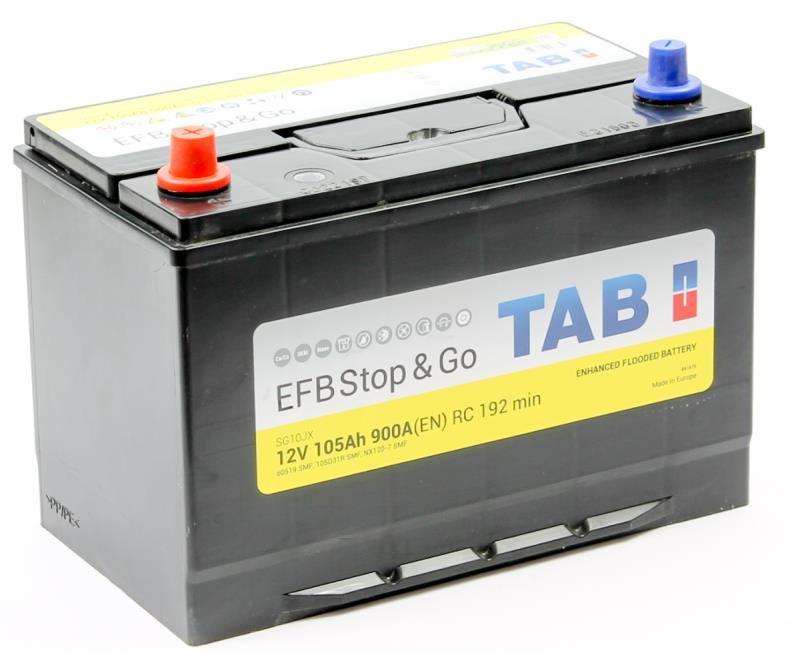 Аккумулятор TAB Polar S EFB 105 L+ 60519