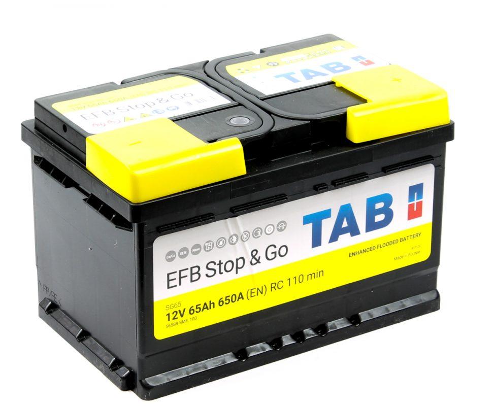 Аккумулятор TAB EFB Stop&Go 65 212065/ 56588/ 837529