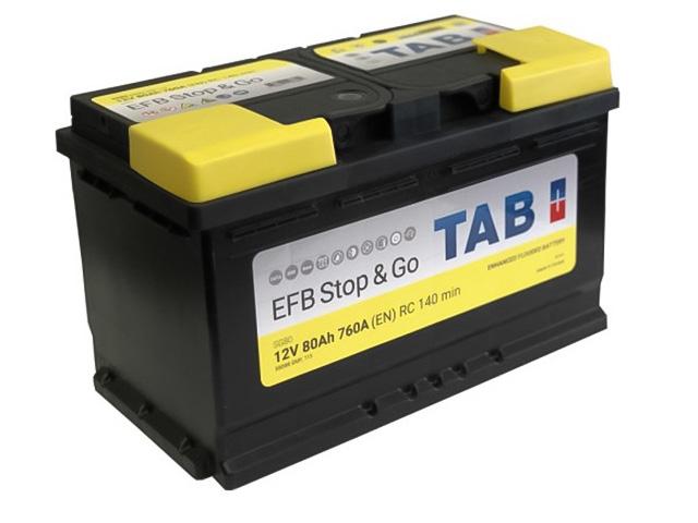 Аккумулятор TAB EFB Stop&Go 80.0 ( 212080/ 199680/ 58088/ 837531 )