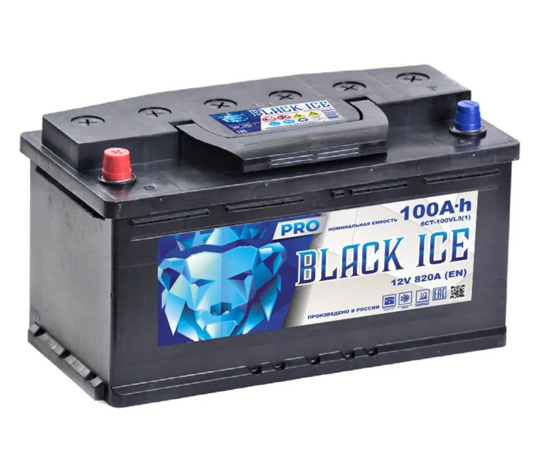 Аккумулятор BLACK ICE Pro 6СТ-100.1 (АКТЕХ)