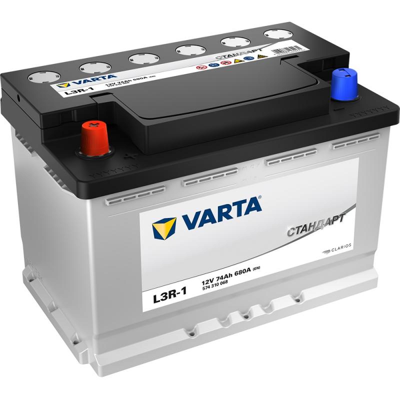 Аккумулятор VARTA Standart 6СТ 74Ач 680А L3R-1 100379