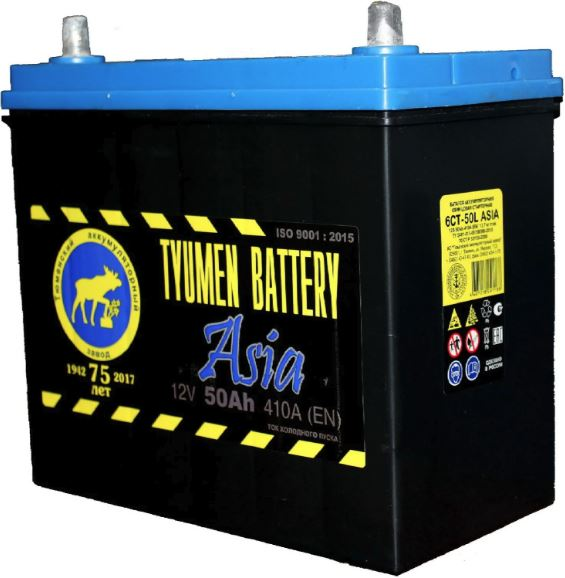 Аккумулятор Тюмень Asia 50 R+ B24LS
