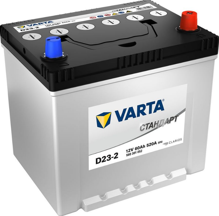 Аккумулятор VARTA Standart 6СТ 60 JIS D23-2 376611