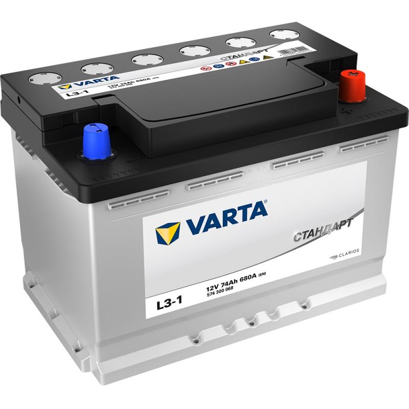 Аккумулятор VARTA Standart 6СТ 74 L3-1 100378