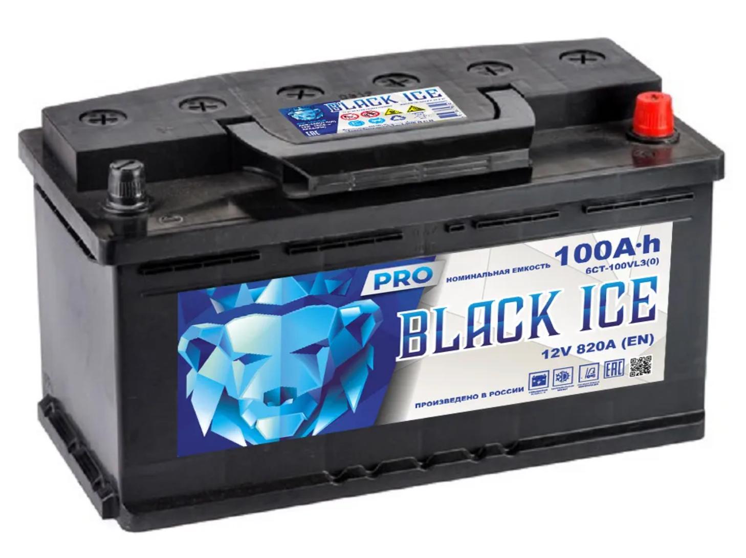 Аккумулятор BLACK ICE Pro 6СТ-100.0 (АКТЕХ)