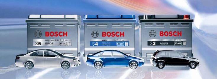 Автомобильные аккумуляторы АКБ Bosch БОШ