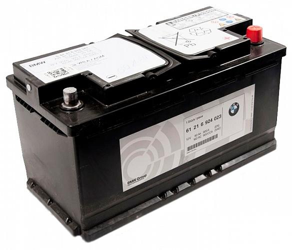 Аккумулятор автомобильный ORIGINAL BMW 90 AGM 61216924023 12В 90Ач 900A