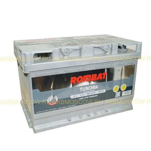 Аккумулятор автомобильный Rombat EB370 LB3 70Ah Tundra R+ 12В 70Ач 680A